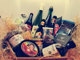 Grote geschenkmand: Vlaamse streekproducten
