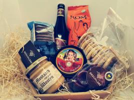 Kleine geschenkmand: Vlaamse streekproducten