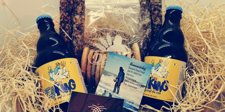 Geschenkmand: pakketje van de zee