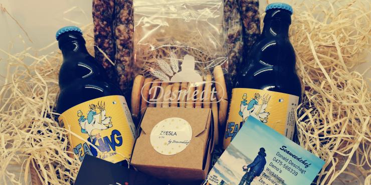 Geschenkmand: luxe pakketje van de zee